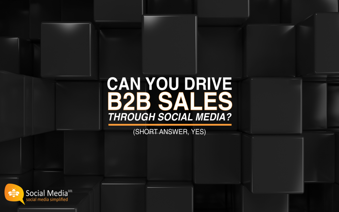 Can a B2B Company Drive Sales Through Social Media? (Short Answer, Yes)